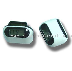 Solar and  battery powered Pedometer