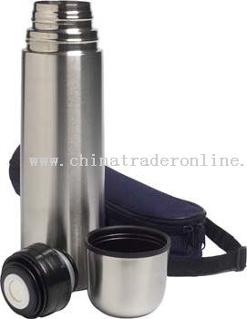 Stainless steel vacuum flask with bag easy carrying