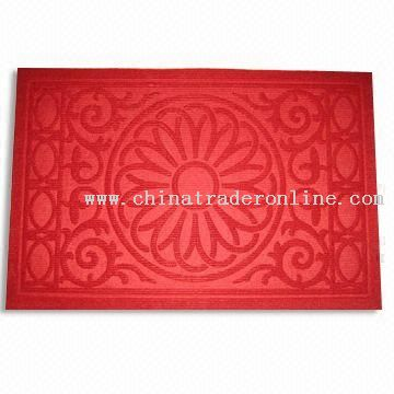 Door Mat with Polypropylene Flocking on Face Side