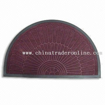 PVC Door Mat with Polypropylene Flocking on Face Side