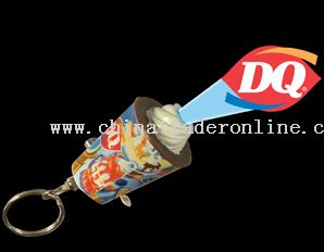 Ice cream Shape Logo Projector Keychain