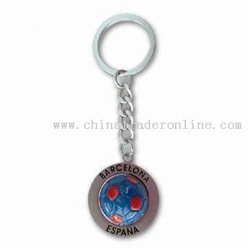 Football Keychain, Made of Alloy & Resin For FIFA World Cup 2010 Promotional Gifts