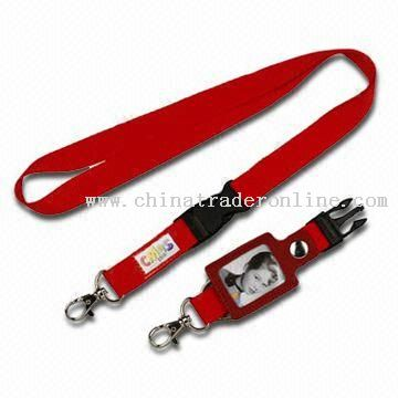 Lanyard, Made of Polyester, Customized Logos are Welcome