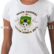 Brazil Football Soccer World Cup 2010 T-shirt from China