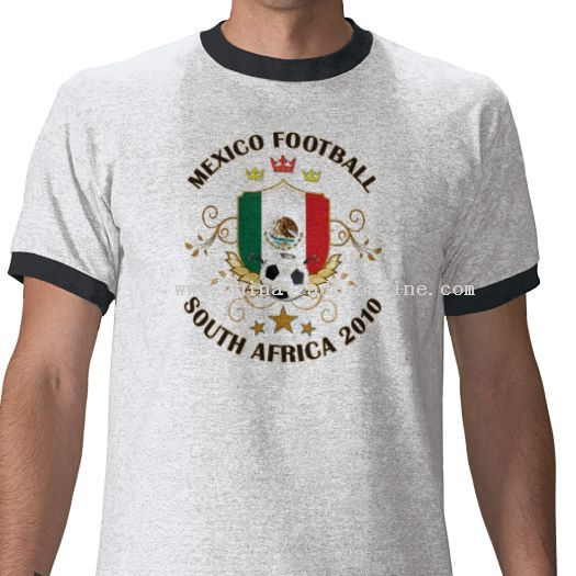 Mexico Football Soccer World Cup 2010 T-shirtby from China