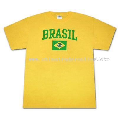 World Cup Soccer Brazil Brasil Classic Yellow TShirt