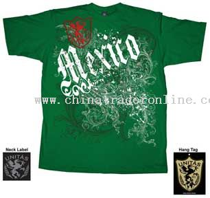 World Cup Soccer Mexico Green Fleur T-Shirt from China