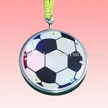 Flashing LED Keychain Light with Football Design