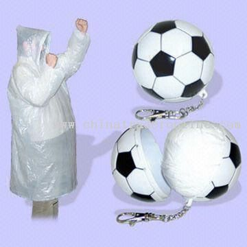 Football Shape compressed raincoat