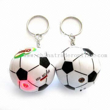 LED Keychains in Football Shape, Logo Imprints are Available