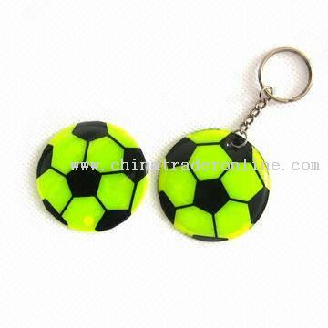 Reflective Keychain in Football Shape