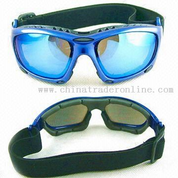 Motorcycle Goggle with Interchangeable Temples and Strap