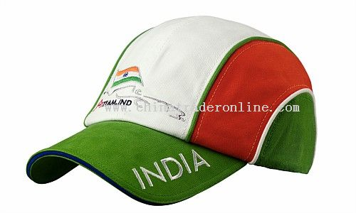 100% cotton twill cap in Indian racing colours