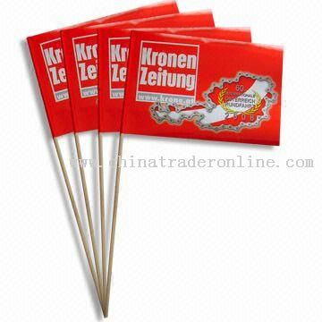 Promotional Hand Flags with Plastic or Wooden Poles