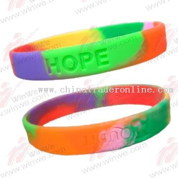 Rainbow Silicone Bracelets from China