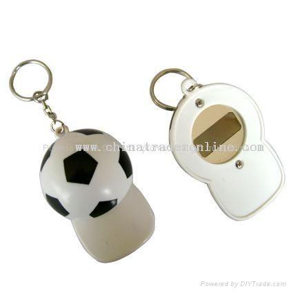 soccer cap opener keychain