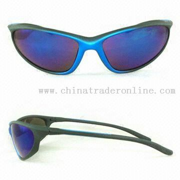 Sports Sunglasses with 100% UVA and UVB Protection Lenses from China