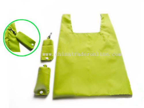 Foldaway Polyester Shopping Bag from China