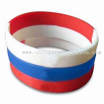 Silicone world cup Rubber Bracelet/Wristband, Ideal for Promotion Gifts
