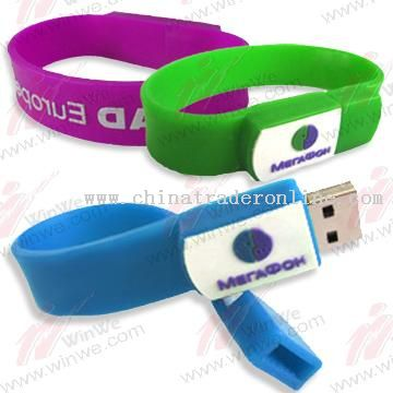 USB Bracelet Flash Drive in Wristband Housing