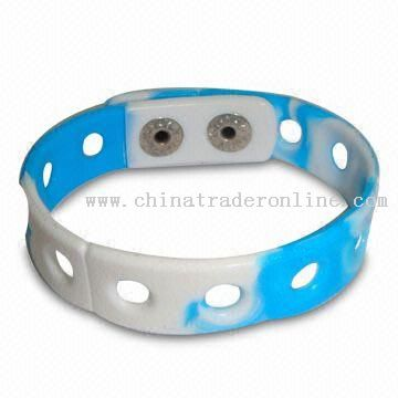 world cup PVC Wristband/Holey Bracelet with Charms