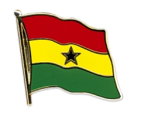 Flag Pins Ghana (swinging)