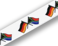 Crossed Flag Lanyards: Germany-South Africa