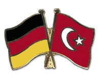 Crossed Flag Pins Germany-Turkey