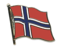 Flag Pins Norway (swinging)