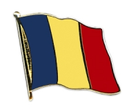 Flag Pins Romania (swinging)