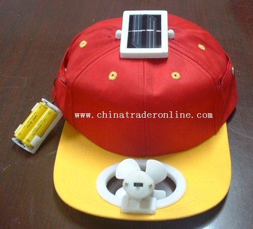 Mono(Multi)crystalline Solar Fan Cap (Dual Power)