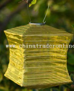 China Silk Effect Solar Lantern