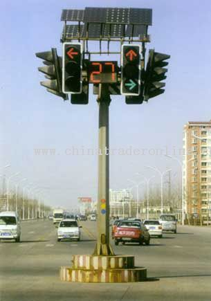 Erect Solar Traffic Light
