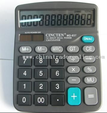 12 Digits Dual Power Calculator
