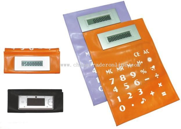 A4 Foldable Calculator W/Clock & Talking Function from China