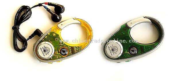 Carabiner Radio with Compass & Flash Light