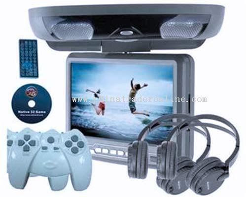 9-inch Flip-down DVD Player with SONY Lens,USB,Wireless joysticker,headphone