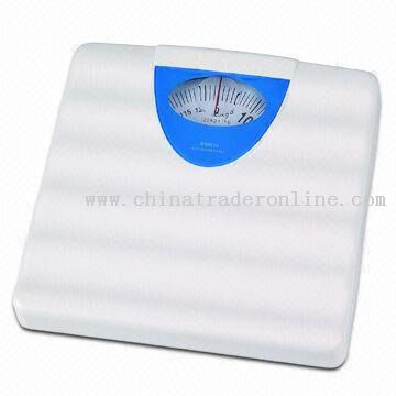 ABS Platform Bathroom Scale with Massage Function and Division of 1kg/2lbs