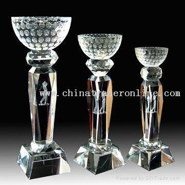 crystal trophy cup