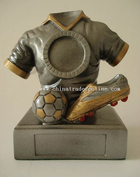 Polyresin Trophy/Award/Promotion/Resinic/Prize/Football/Player/Soccer/Statue