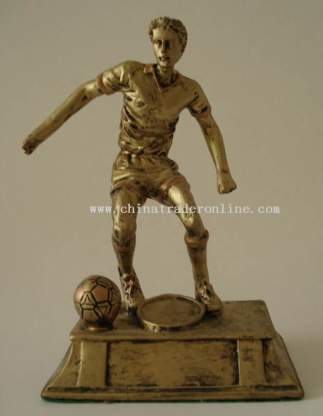Polyresin Trophy/Award/Promotion/Resinic/Prize/Player/Soccer/