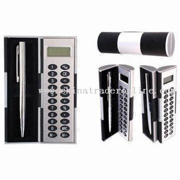 Magic Box Eight Digits Calculator with Ball Pen