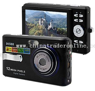 12.0MP Digital Camera with 3.0 inch LCD