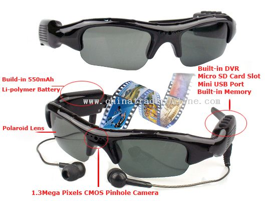 Sunglasses+Video Recording +MP3 Player