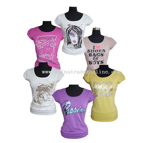 wholesale Ladys Cotton Printed T-Shirt-buy discount Ladys Cotton ...