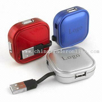 USB Flash Drive with Hub and 8GB Maximum Capacity