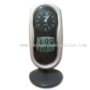 Dual Clock w/ Digital Calendar & Thermometer