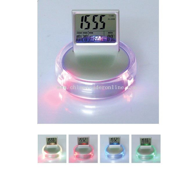 Glow LED Color Change Calendar Clock