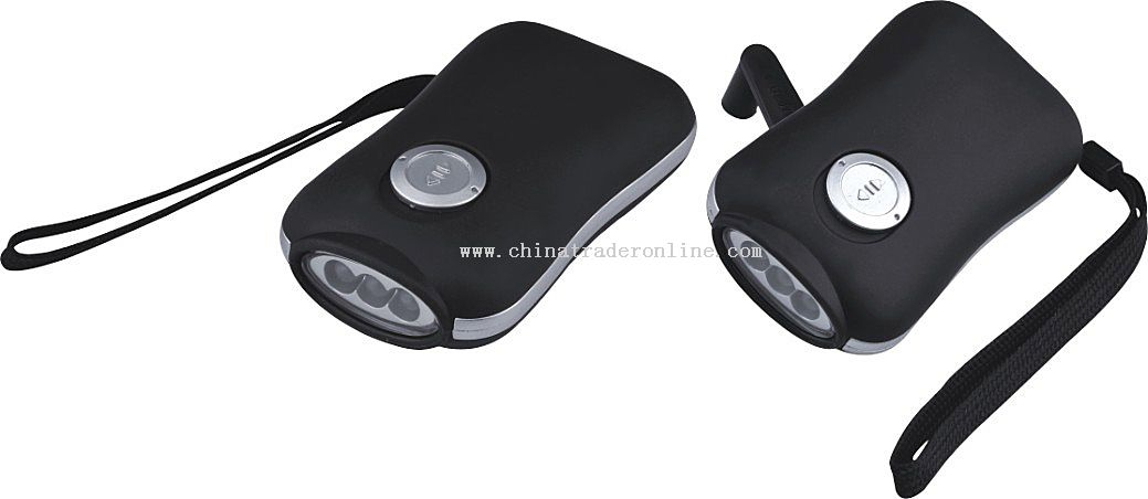 led handy crank flashlight