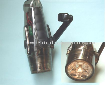 Rechargeable Flashlight Dynamo Torch Hand Winding